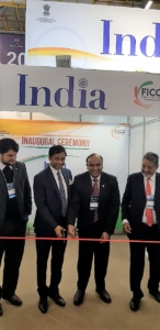 Ashok Das, Ambassador of India inaugurating the India Pavilion at HOSPITALAR 2018 in São Paulo, Brazil